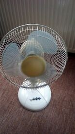 "12"" Oscillating Desk Top Fan Office 3 Speeds"