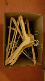 Hangers: wooden & plastic x 60