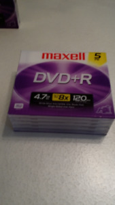 NEW - DVD+R - 4.7 GB up to Max 8X - 120 min - sp mode