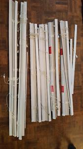 6 mini blinds - white