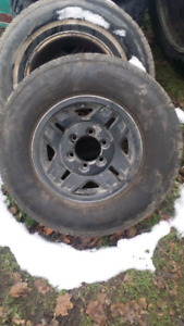 Brand new tires with Chevy or Toyota  rim for pick up truck
