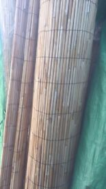 Rolls of bamboo style thick reed screening/fencing 2m high x 4m long