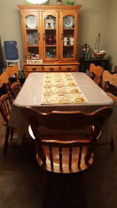 Dinning Table with hutch