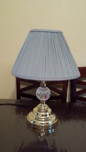 Cute lamp with blue shade
