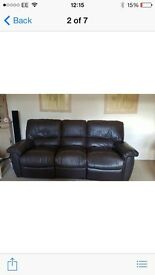 3 & 2 leather sofas x can deliver