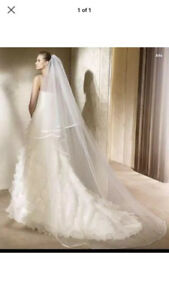 New ivory 2T cathedral Veil