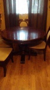 Pedestal dining room set