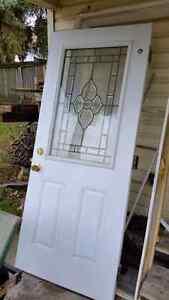 Exterior stained glass door Kitchener / Waterloo Kitchener Area image 1