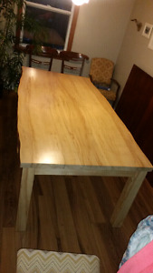 Live Edge Solid Maple Dining Table