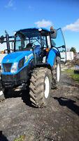 tracteur new holland a louer pour saison hivernal