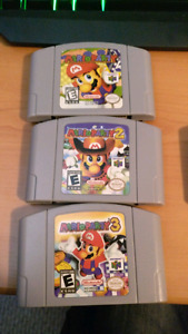 Mario party 1, 2 and 3 / nintendo 64 n64 games