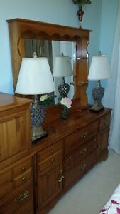 Lovely solid pine 6 piece bedroom set with queen mattress set Peterborough Peterborough Area image 2
