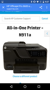 HP OfficeJet Pro 8600 Printer/Scanner/Fax machine FULL COLOR