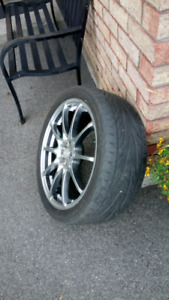 Sport rims with low profile tires