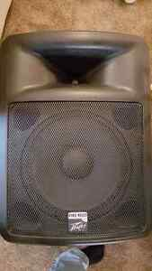 "Peavey PR15D powered 15"" P.A. speakers (PAIR) 120d)"