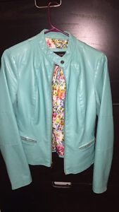 Turquoise Faux-Leather Jacket XS Kingston Kingston Area image 1
