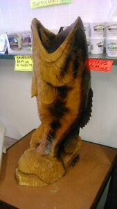 Large Mouth Bass Chainsaw Carving