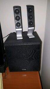 LIKE NEW CREATIVE SPEAKERS SYSTEM WITH SUBWOOFER AND VOLUME CONT