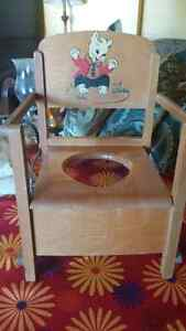 Vintage Child's Wooden Folding Training Potty Chair St. John's Newfoundland image 1