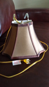 Headboard light bronze color with pull chain