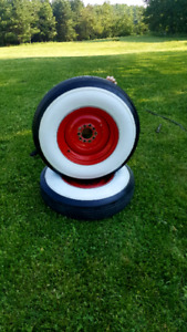 Nos white walls on chev /Ford /dodge rims
