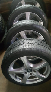 VW Audi 5x112 Rims and Winter Tires 225/50R17