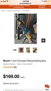 Bosch corded sawzall with blades