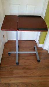 Adjustable Table on Wheels for laptop computer