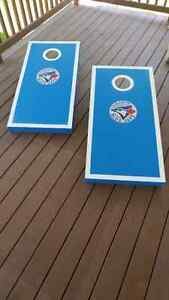 Blue Jays Handcrafted Cornhole Bean Bag Toss Game Kitchener / Waterloo Kitchener Area image 10