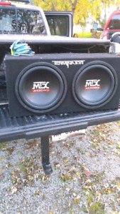 "12"" MTX SUBS AND KENWOOD AMP"