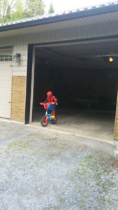 Kids spiderman bike(like new)