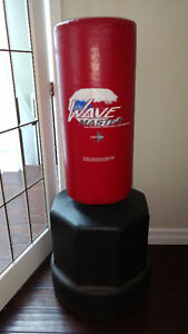 Stand up Kicking Bag with Adjustable Height + UFC Boxing Gloves