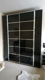 High gloss black Bedroom Furniture set