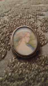 800 Sterling Silver Vintage Cameo