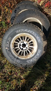4 Tires mounted on rims. MAKE AN OFFER!!!