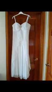 White formal gown