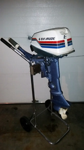 6hp Evinrude Outboard Motor Excellent Condition Runs Very Well