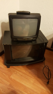 12 inch colored TV & stand