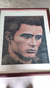 """24x30"""" Framed picture of James Dean"""