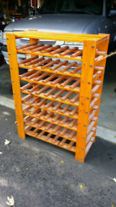 Large wooden wine rack for sale - $40