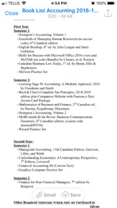 Need first year accounting books for Holland college