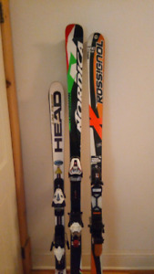 Competitive skiing ( some are FIS approved) equipment