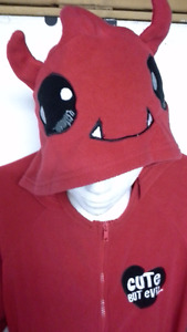 """cute but evil"" devil onesie pajama / costume"