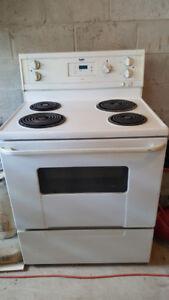 1 white inglis electrical stove