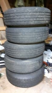 5 summer tires and 4 winter tires on rimes