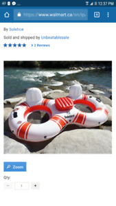 2 person inflatable Water Raft/Tube