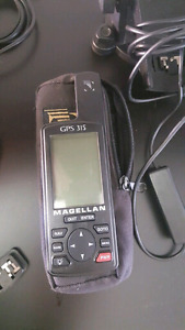 Magellan GPS 315 Handheld GPS Receiver with pouch and car adapto