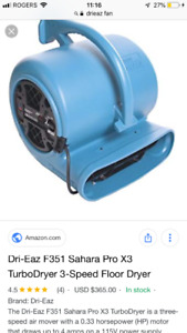 DRI EAZ SAHARA FLOOR FAN 40$