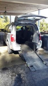2009 Grand Caravan with Wheelchair ramp
