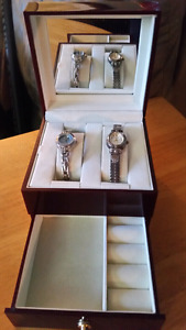 Jewelry box with two watches